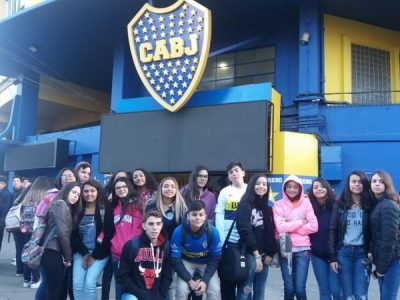 Visita dos nossos alunos intercambistas ao Estádio La Bombonera