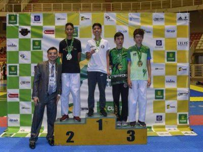 Flavio Augusto Marques do 2° EM foi campeão brasileiro de Taekwondo