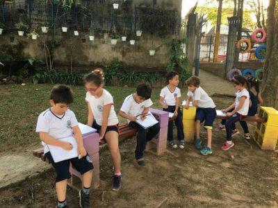 Aula prática com os alunos do 2°ano A
